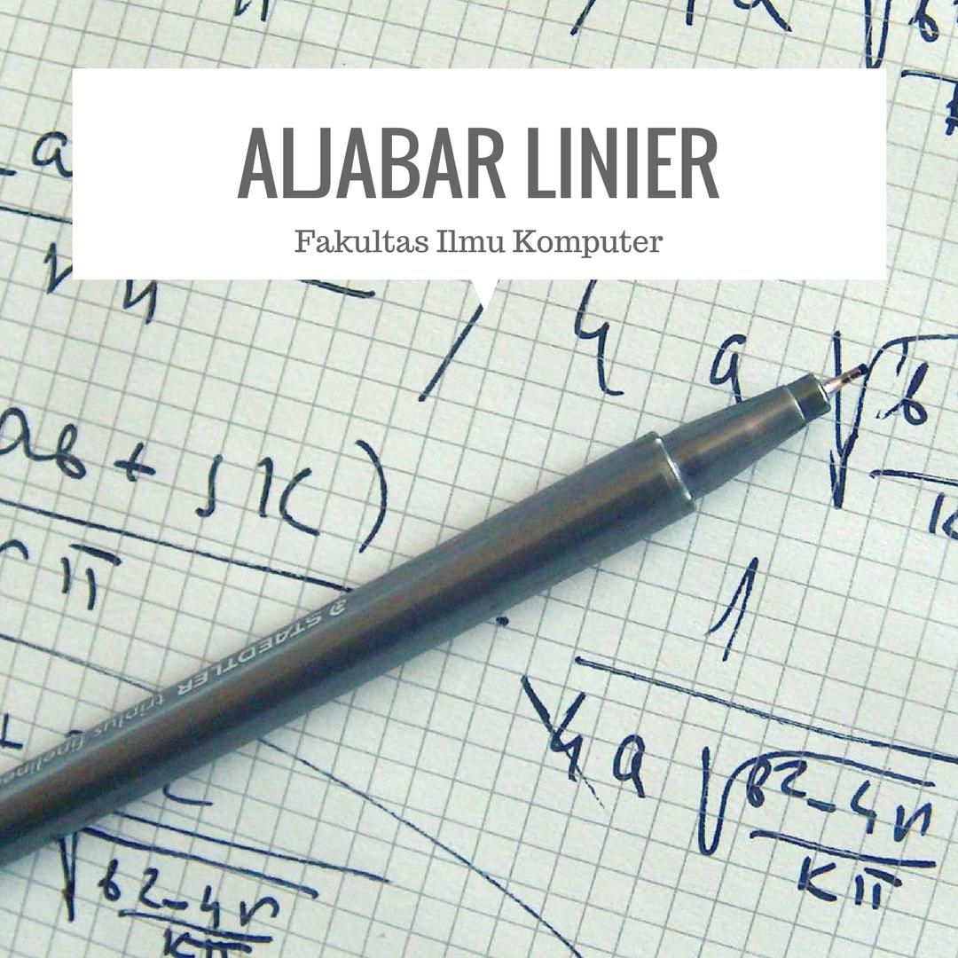 Aljabar Linier